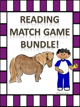Reading Match Game Bundle