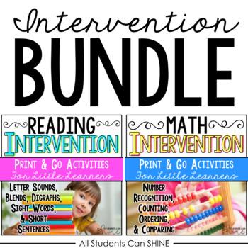 Reading & Math Intervention BUNDLE