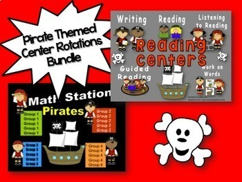 Reading & Math Pirate Themed Bundle of Automated PowerPoin
