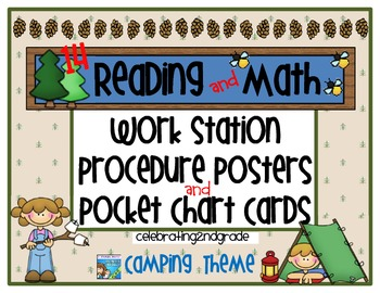 Reading/ Math Work Station Procedure Posters/Pocket Chart