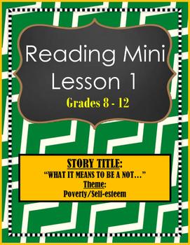 Reading Mini Lesson Plan 1: Themes - Poverty & Self-esteem
