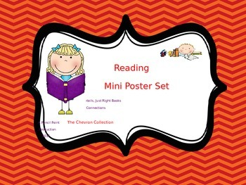 Reading Mini Poster Sets - Chevron Collection