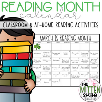 Reading Month Calendars & Reading Logs
