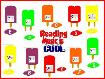 Reading Music is Cool Bulletin Board or Music Workstation