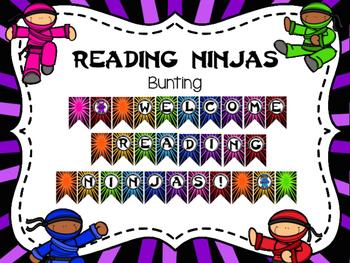 Reading Ninjas Bunting