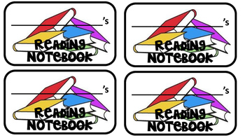 Reading Notebook Labels