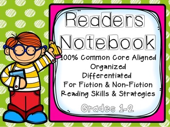 Reading Notebook for Grades 1-2: Common Core Aligned, Fict