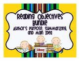 Reading Objectives Bundle {4 Reading Objective Packs}