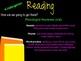 Reading Parent Night Presentation