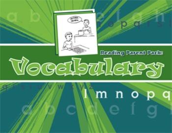 Reading Parent Pack: Vocabulary
