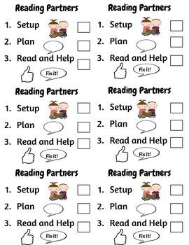 Reading Partner Checklist
