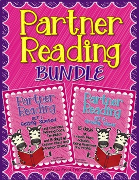 Partner Reading BUNDLE: 24 Reading Lessons, Organizers, Ch