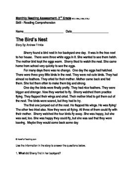 Reading Passage and Comprehension Questions: The Bird's Nest