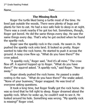 Reading Passage with Comprehension Questions: The Missing Rock
