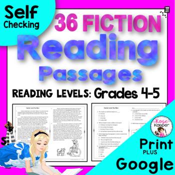 Reading Passages Fiction for 4th Grade and 5th Grade