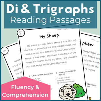 Reading Passages for Fluency and Comprehension - Digraphs