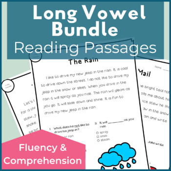 Reading Passages for Fluency and Comprehension Long Vowel Bundle