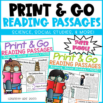 Reading Passages Super Bundle