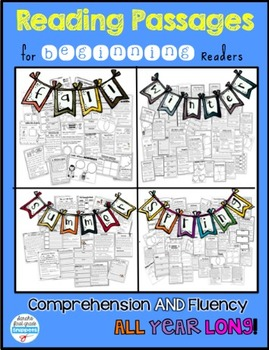 Reading Passages and Comprehension Pages for the Beginning