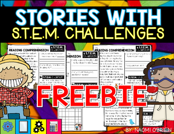 Reading Passages and STEM Challenge FREEBIE