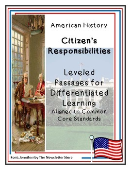 Reading Passages for Differentiated Learning: Citizens' Re