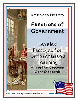 Reading Passages for Differentiated Learning: Functions of