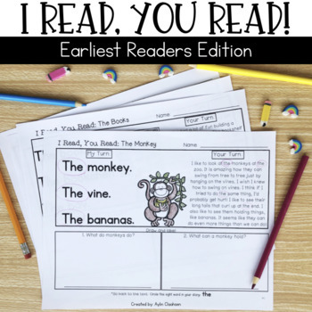 Reading Passages for Home or School: Earliest Readers Edit