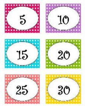 Reading Points by 5s Polka Dots