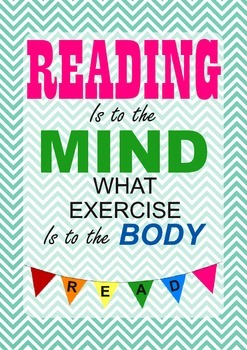 A Reading Poster: reading is a workout!