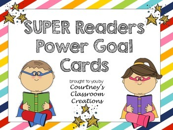 Reading Power Goal Tracking Cards- Superhero Themed