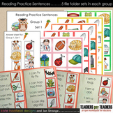 Reading Practice Sentences BUNDLE - Groups 1, 2, and 3