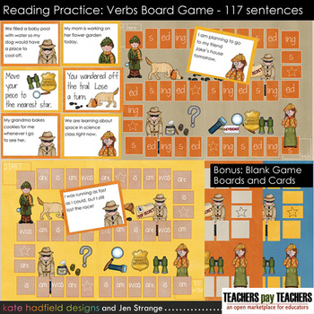 Reading Practice - Verbs Game (Helping Verbs and Inflectio