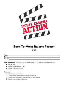 Reading Project - Book to Movie