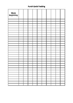 Reading Punch Cards - Tracking Grid
