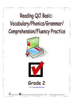 Reading QC! Basic: Vocab./Phonics/Grammar/Comprehen./Fluen