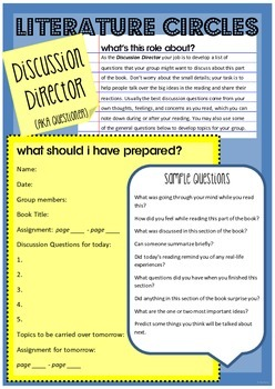 Reading Resource - Literature Circle Guidline Posters