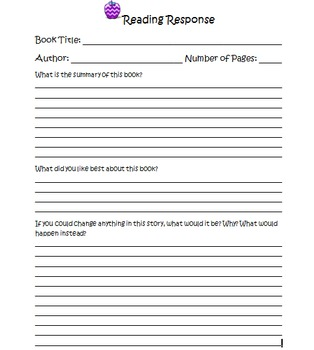 Reading Response Book Review