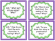Reading Response Discussion Cards: Comprehension