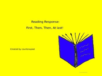 Reading Response:  First, Then, Then, At last!