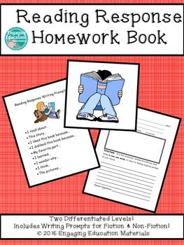 Reading Response Homework Book