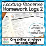 Reading Response Homework Reading Logs **Version 2**