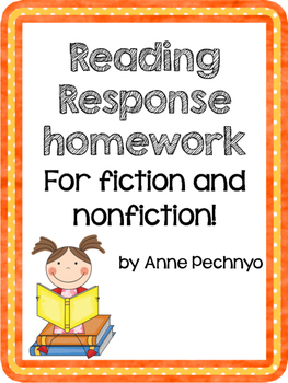 Reading Response Homework for Fiction and Nonfiction - Lit
