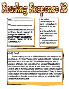 Reading Response: How does the author provide information