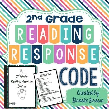 "Reading Response Journal ""Code"" for Second Grade"