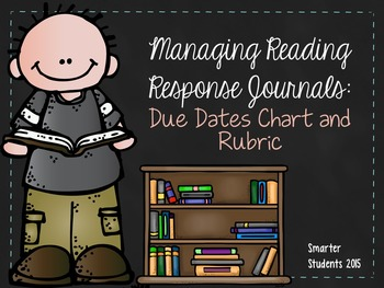 Reading Response Journal Due Dates Chart and Rubric {EDITABLE}