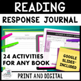 Reading Journal: To Use With Any Book (Grades 6, 7, 8)