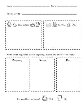 Reading Response FREEBIE {Kindergarten}