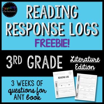 Reading Response Logs for 3rd Grade - SAMPLER