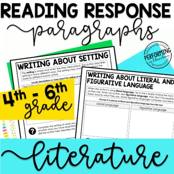 Reading Response Paragraphs: Editable Organizers For Every