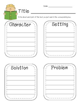 Reading Response Printables for Differentiation Common Cor